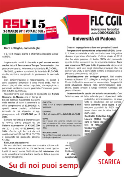 Volantino FCL CGIL RSU 2015